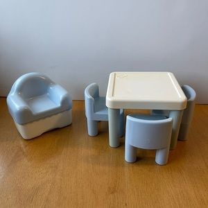 Little Tikes Dollhouse Table and Chairs